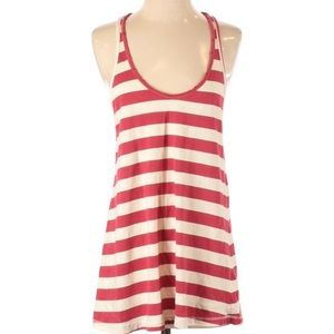Current/Elliott distressed stripped muscle tank